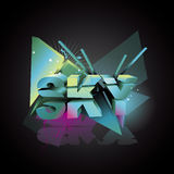 Sky 3d abstract text Stock Photography