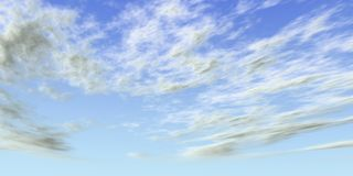 Sky. Beautiful partly cloudy midday sky Vector Illustration