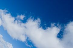 Sky. Beautiful blue sunny sky background royalty free stock image