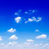 Sky. Fluffy clouds in the blue sky Stock Photos