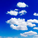 Sky. White clouds in the blue sky Royalty Free Stock Photos
