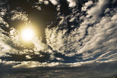 Sky. And clouds with bright light Stock Photos