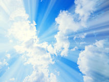Sky. Blue Sky, sunlight on cloud Royalty Free Stock Photos