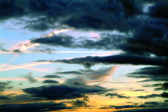 Sky. Sundown colours on the sky royalty free stock photo