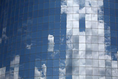 Sky. Highrise glass building with sky and clouds reflection Royalty Free Stock Images