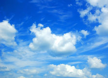 Sky. Background abstract: blue sky and clouds Stock Photo