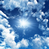 Sky. Blue sky with white clouds - digital artwork royalty free stock photography
