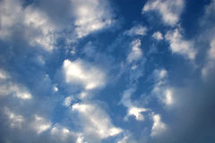 Sky. Cumulus clouds in blue sky Stock Image