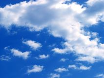 Sky. Cloudscape.The blue sky.Clean royalty free stock images