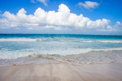 Sky above the beach in Dominican Republic. Royalty Free Stock Photography