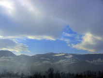 Sky above Bosnia Mountains Royalty Free Stock Image