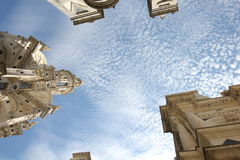 The Sky above Chateau de Chambord, France, Europe royalty free stock photography