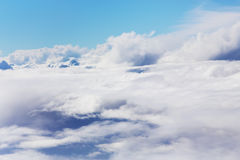 Sky above the clouds Royalty Free Stock Photos