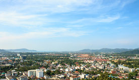 The sky above the Phuket the tropical sea - panorama Stock Photos