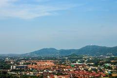 The sky above the Phuket the tropical sea - panorama Stock Photo