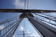Sky above the rigging royalty free stock images