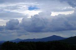 Sky above the Rose Hill. Sky above the landscape National park Czech Switzerland royalty free stock photography