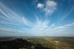 Sky above small mountains Royalty Free Stock Image