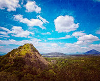 Sky above small mountains Royalty Free Stock Images