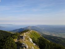 Sky above Ucka. Istrian only mountain Stock Images