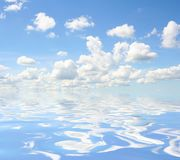 Sky above water Stock Image