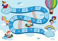 Sky activity board game template. Illustration vector illustration