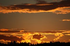 Sky, Afterglow, Atmosphere, Cloud Stock Image