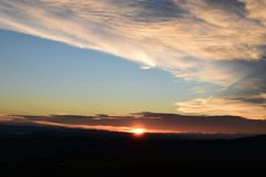 Sky, Afterglow, Horizon, Sunrise stock photo
