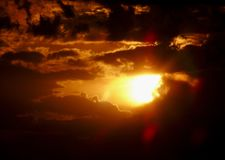 Sky, Afterglow, Sun, Atmosphere royalty free stock photography