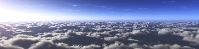 Beautiful sky with clouds and the sun royalty free stock photos
