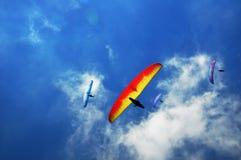 Sky, Air Sports, Paragliding, Parachuting stock image