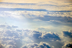 Sky from aircraft. Sky and clouds from a plane over Montenegro Stock Photography