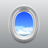 Sky in aircraft window vector background Stock Photography