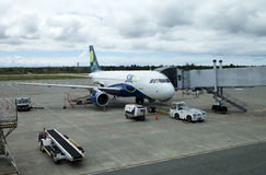 Sky Airline at the Puerto Montt airport, Chile Stock Images
