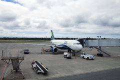 Sky Airline at the Puerto Montt airport, Chile Royalty Free Stock Photos
