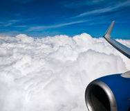 Sky and airplane Stock Photography
