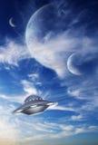 Sky in alien planet Stock Photo