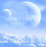 Sky in alien planet Stock Images