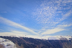 The sky of the Alpine foothills Stock Images
