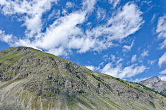 Sky in Alps. The peaks of the Italian Alps in Livigno Stock Photos