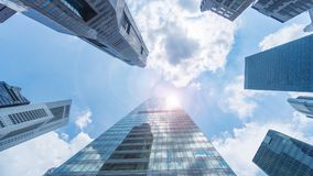 Free Sky And Exterior Glass Wall Modern Buildings Stock Photography - 104662072