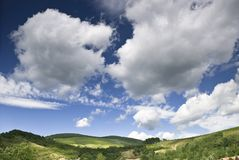 Sky And Hills Landscape Royalty Free Stock Images