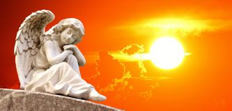 Sky, Angel, Statue, Sunlight Royalty Free Stock Photo