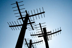 Sky Antennas Royalty Free Stock Image