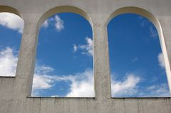 Sky arches. Colonial Arches showing clear skies in the background royalty free stock photography