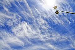 Bright sky and clouds Stock Images