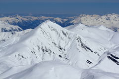 Sky Areas, Panorama of the Hils, Les Deux Alpes, France, French Royalty Free Stock Images