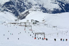 Sky Areas, Panorama of the Hils, Les Deux Alpes, France, French Royalty Free Stock Photos