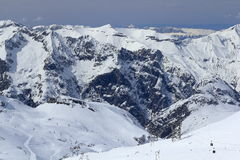 Sky Areas, Panorama of the Hils, Les Deux Alpes, France, French Stock Image