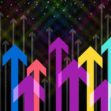 Sky Arrows Background Means Upwards Growth And Direction Stock Photography